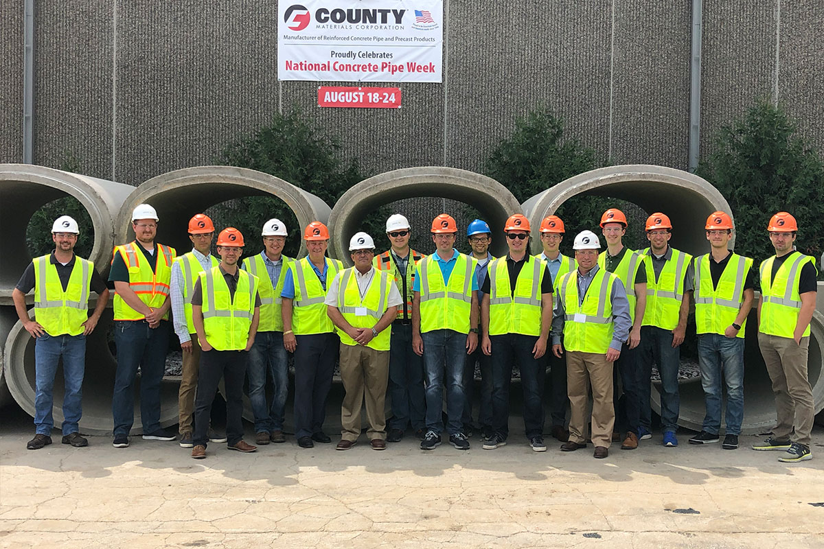 Concrete Pipe Week: Vierbicher Engineering Tours Madison, WI Concrete Pipe Manufacturing Facility in Recognition of National Concrete Pipe Week