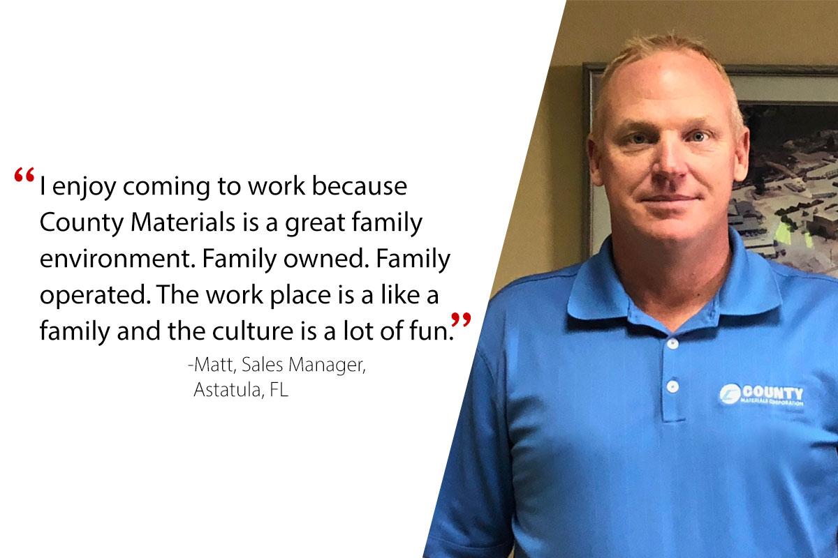 Matt, Sales Manager-Astatula, FL