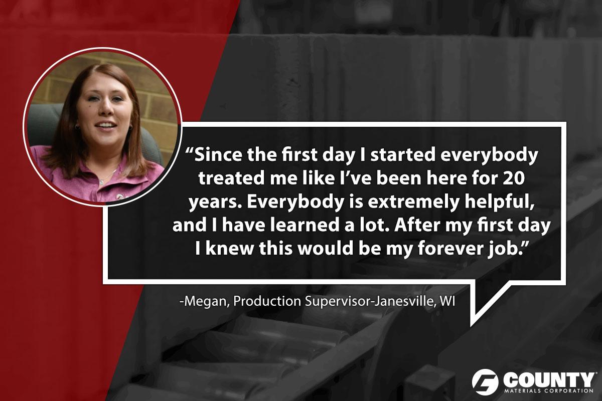 Megan, Production Supervisor-Janesville, WI