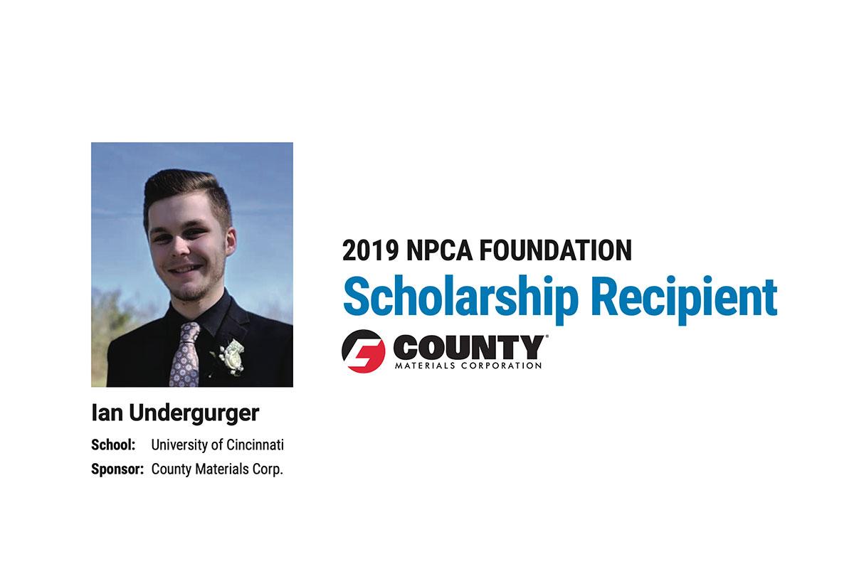 County Materials Sponsors NPCA Scholarship Recipient