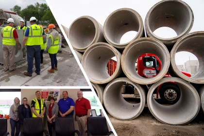 NPCA Staff Members Tour County Materials' Maxwell Pipe Manufacturing Facility