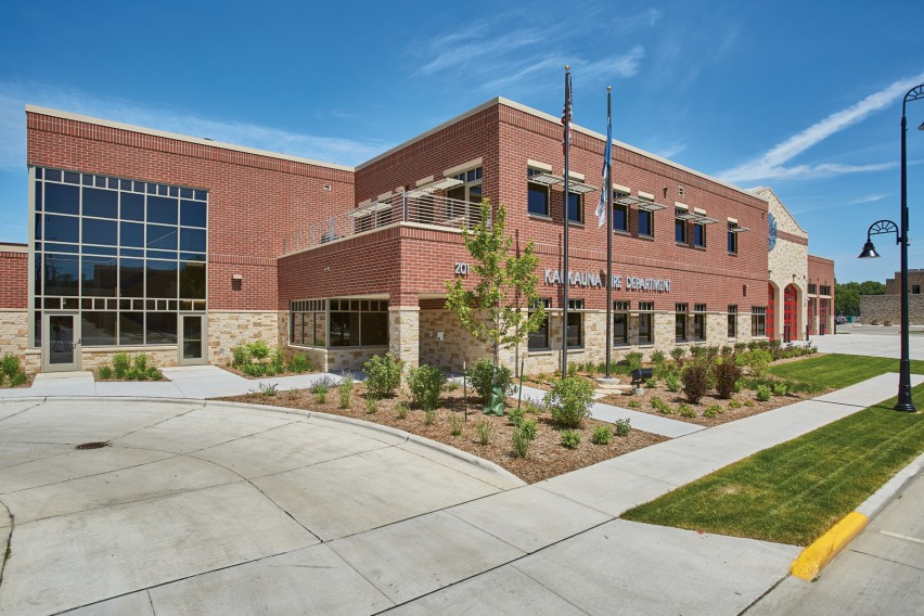 Decorative Concrete Masonry Units Boost Sustainability Goals and Provide Durability for Kaukauna Fire Station