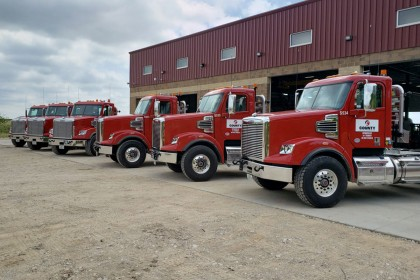 County Materials Invests in Drivers with New Heavy-Haul Trucks