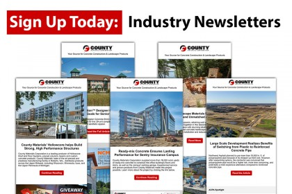 Receive Concrete Construction Industry Newsletters
