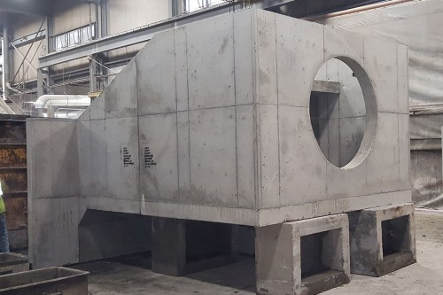 County Materials Manufactures 28-Ton Custom Precast Structure