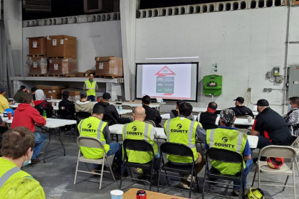 County Materials' Production Team in Roberts, WI  Hosts Safety Stand Down Event