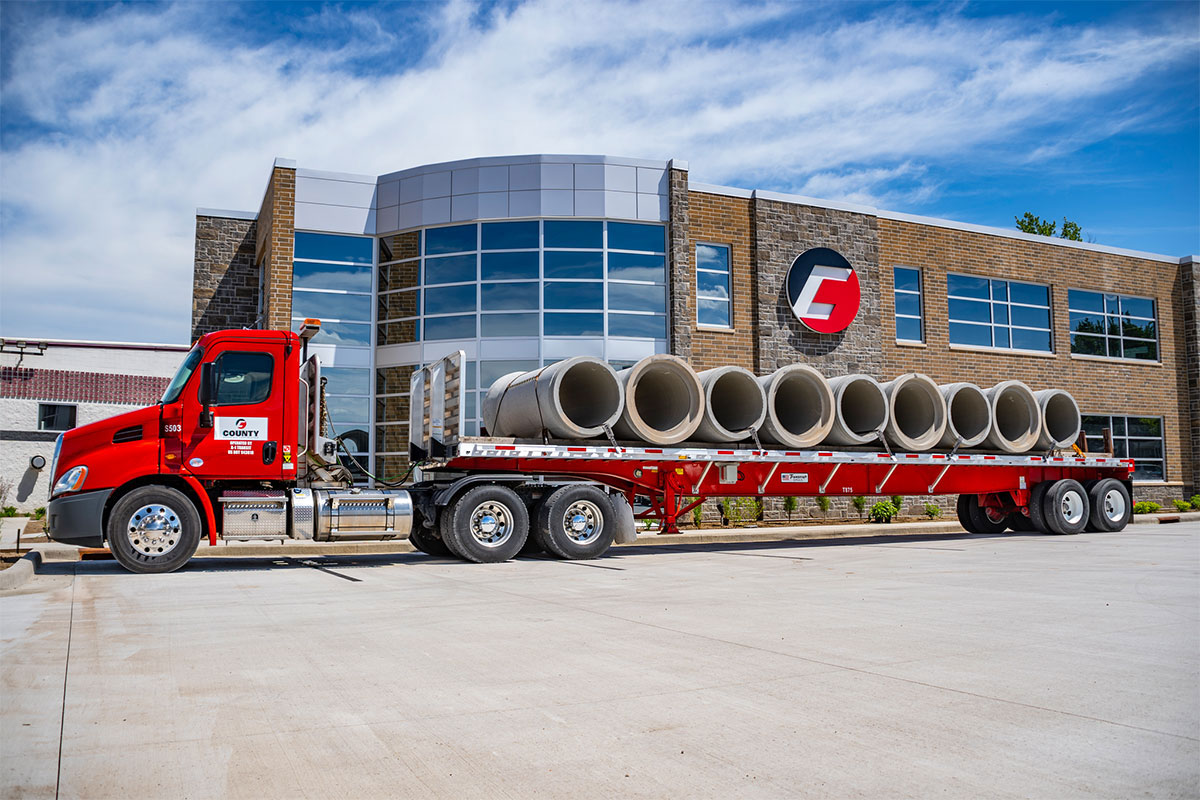 County Materials Leads the Way During 2019 Concrete Pipe Week