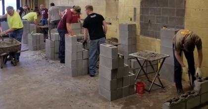 County Materials Promotes the Masonry Trade with Rib Lake High School Tech Ed Students