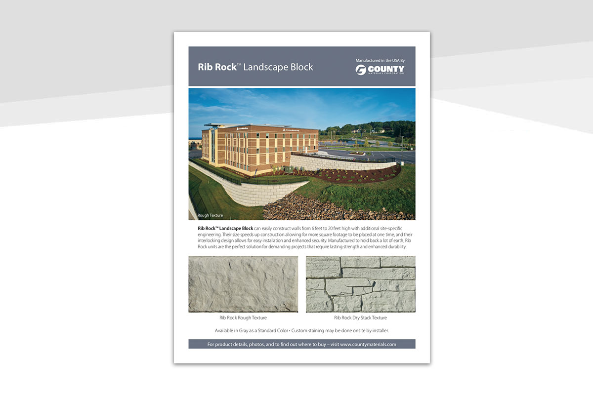 New Rib Rock™ Landscape Block Brochures