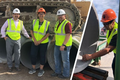 Concrete Pipe Week: Concrete Pipe Proves its Strength During Tour with WI State Senator Patty Schachtner
