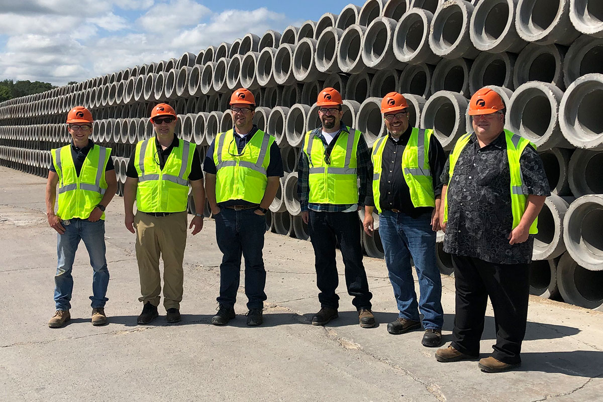 Concrete Pipe Week: Washington County Minnesota Engineers Stop by County Materials in Roberts, WI During Concrete Pipe Week