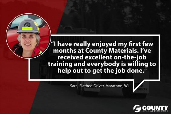 Sarah, Flatbed Driver-Marathon, WI