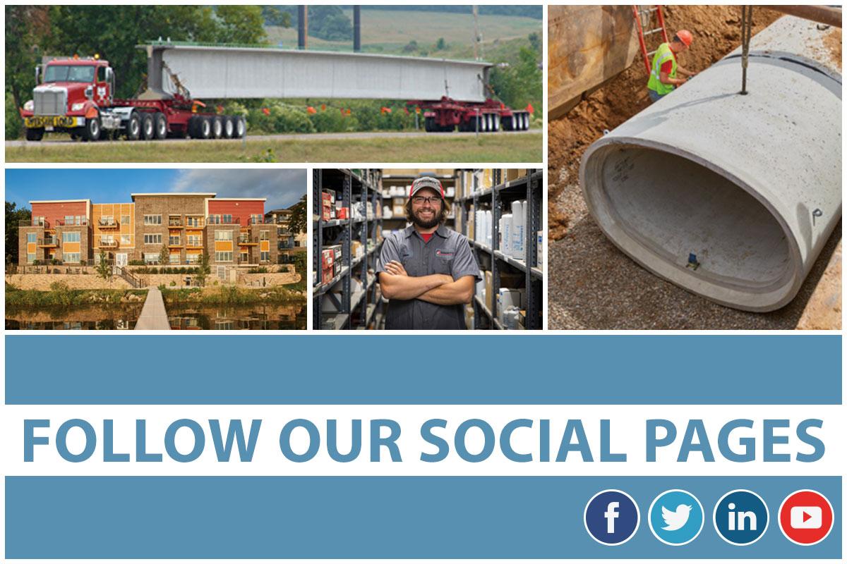 Follow County Materials On Social Media