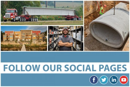 Follow County Materials On Social Media