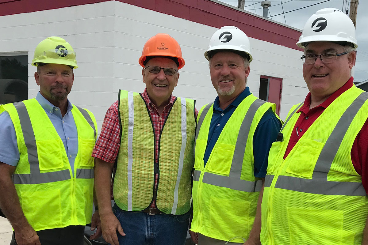 Concrete Pipe Week: Illinois State Representative Mike Murphy Recognizes National Concrete Pipe Week at County Materials' Springfield, IL Location