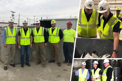 County Materials Hosts Congressman Rodney Davis (IL-13) for Concrete Pipe Plant Tour in Springfield, IL