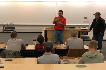 County Materials Presents to UW-Stout Student Construction Association