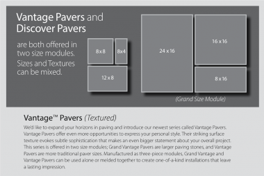 Introducing Vantage™ & Grand Vantage™ Pavers