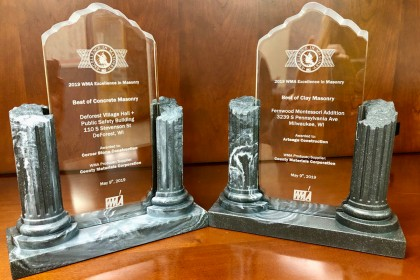 County Materials Earns Honors in the 2019 WMA Excellence in Masonry Awards