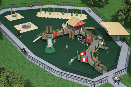 County Materials Supports Inclusive Community Playground in Salem, IL