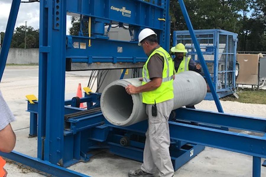 County Materials Corporation's Florida Plant Celebrates Concrete Pipe Week Early