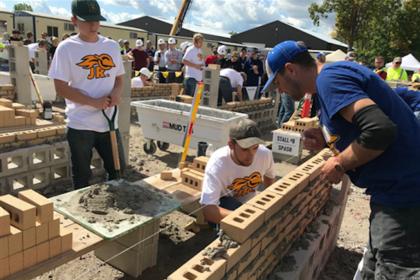 County Materials Helps Wausau Area High School Students Explore Masonry