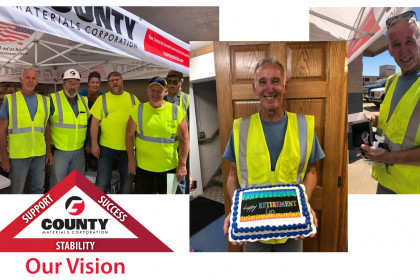 Celebrating a Successful 31-Year Career with County Materials
