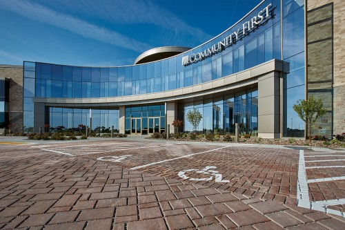 Harmony Permeable Pavers™ Offer a Sustainable Solution for Community First Credit Union's New Corporate Headquarters