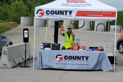 County Materials' Roberts Pipe Facility Hosts Innovative Drive-Through Plant Tour  To Recognize Concrete Pipe Week 2020