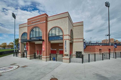 Premier Ultra® Burnished Concrete Block Featured on UIC's Granderson Stadium