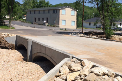 ArchCast™ Precast Bridge System Prevents Flooding by Replacing a Low-Water Crossing
