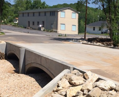 ArchCast® Precast Bridge System Prevents Flooding by Replacing a Low-Water Crossing