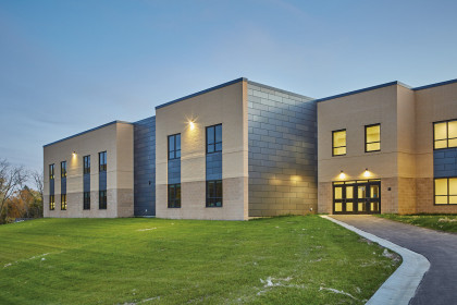 Decorative Concrete Masonry Modernizes Elementary School  and Provides Lasting Strength