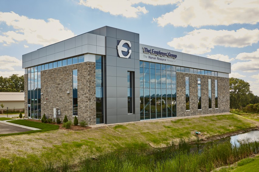Reflection Stone® Masonry Units Create Stunning Look Inside and Out of New Office Complex