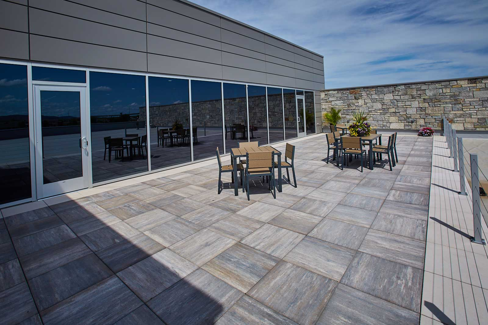 County Materials Supplies Skylands™ Concrete Deck Pavers Mid-Winter for Time-Sensitive Healthcare Facility Project