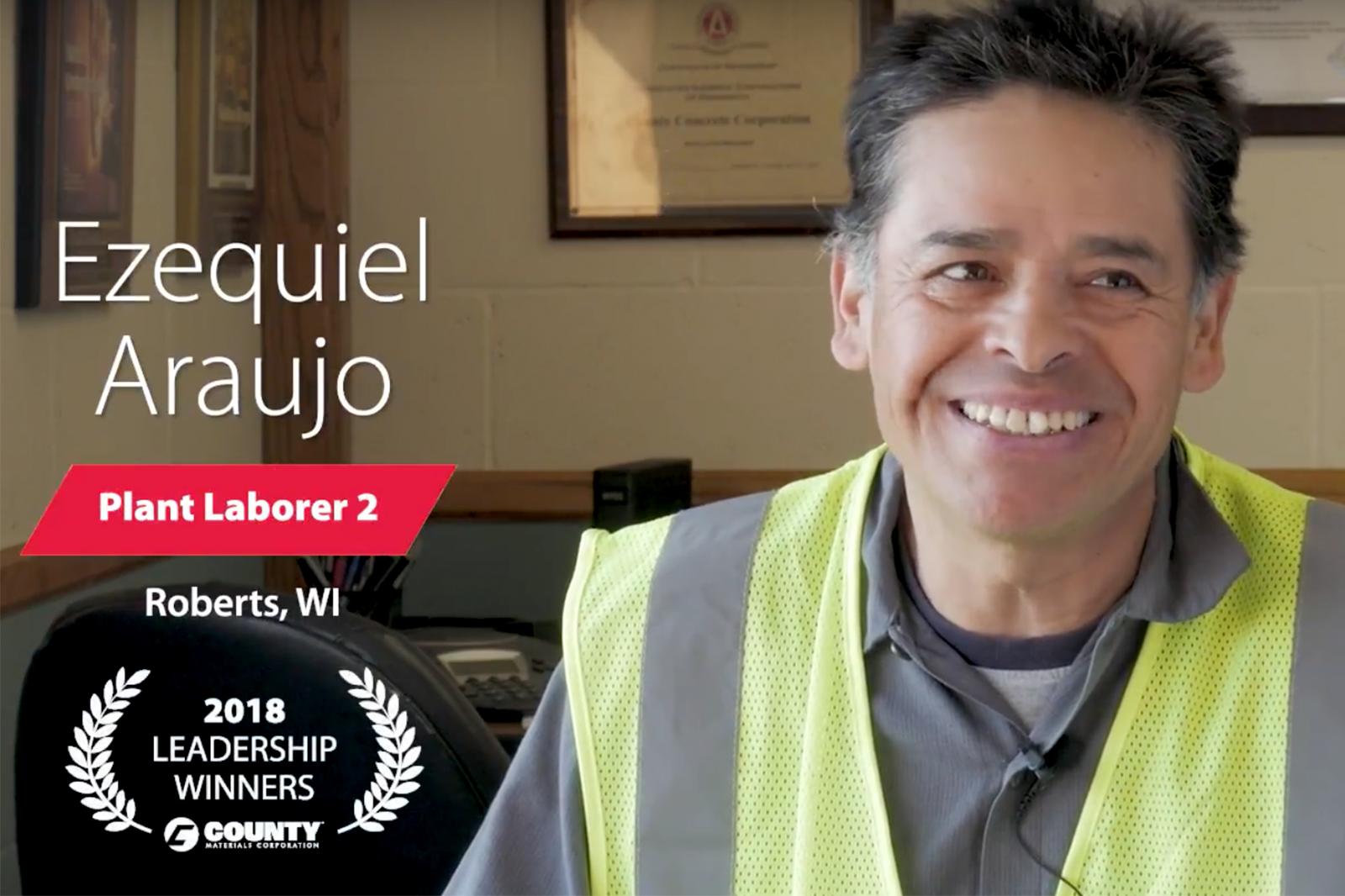 County Materials Congratulates Ezequiel Araujo-2018 First Quarter Leadership Winner