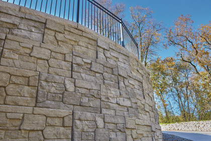 Rib Rock™ Landscape Block Demonstrates Design Flexibility to  Meet Homeowners' Needs