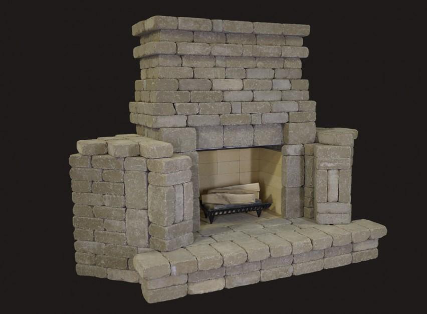 Summit Stone Outdoor Fireplace Kits Corner