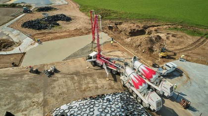 County Materials' Ready-Mix Concrete Helps Local Farm Reduce Environmental Impact
