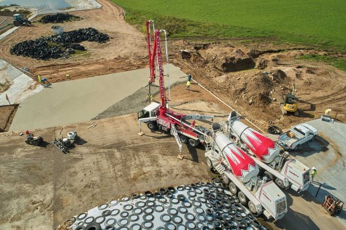 Ready-Mix Concrete Supplied by County Materials Contributes to Healthy Environment on Agricultural Project