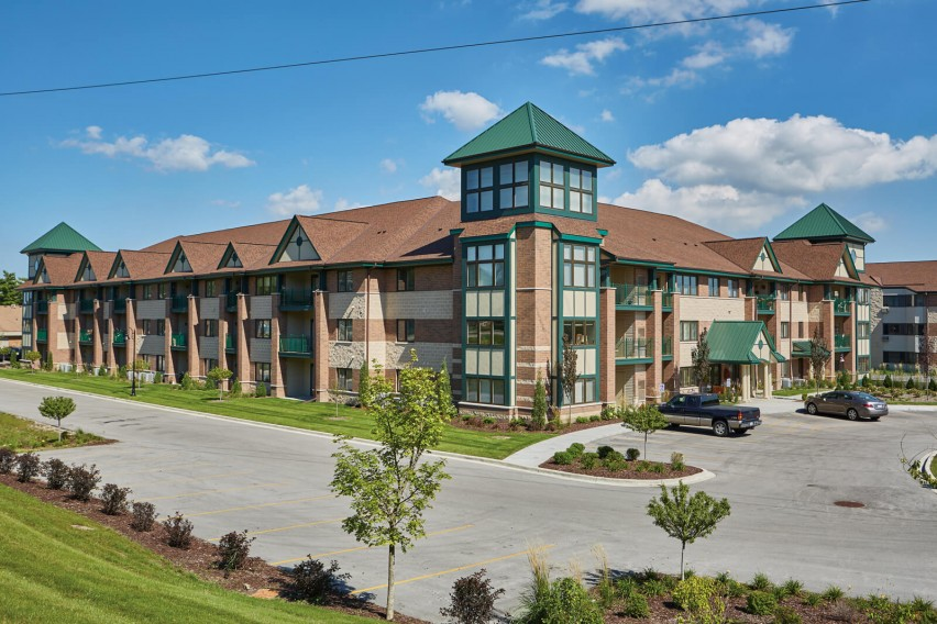 Heritage Collection™ Designer Concrete Brick Meets Design Goals for Senior Living Center