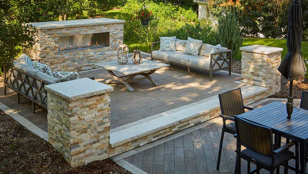Discover the Refined Rustic Character of Essence™ Wood Grain Plank Pavers