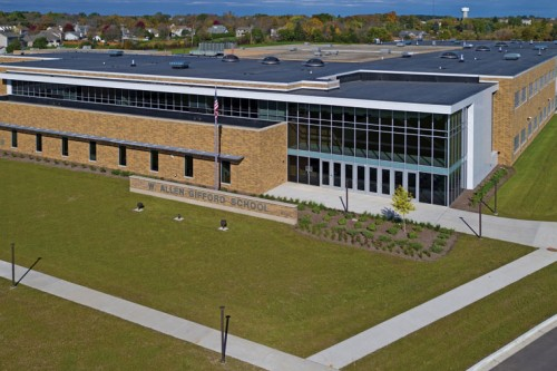 Heritage Collection™ Designer Concrete Brick Aids in Seamless Integration of Old and New School Buildings
