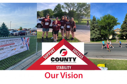 County Materials Sponsors Team for the Good Neighbor Days Race