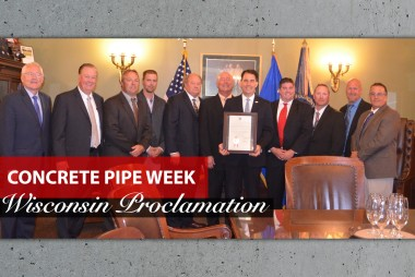 Governor Walker Supports Concrete Pipe