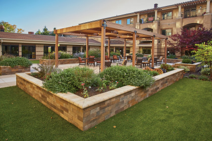 Shotblasted Skylands™ Concrete Deck Pavers Enhance Safety of Senior Living Facility