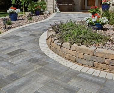 Grand Milestone Pavers® Meet Accessibility Needs and Provide Subtle Beauty for Residential Front Yard