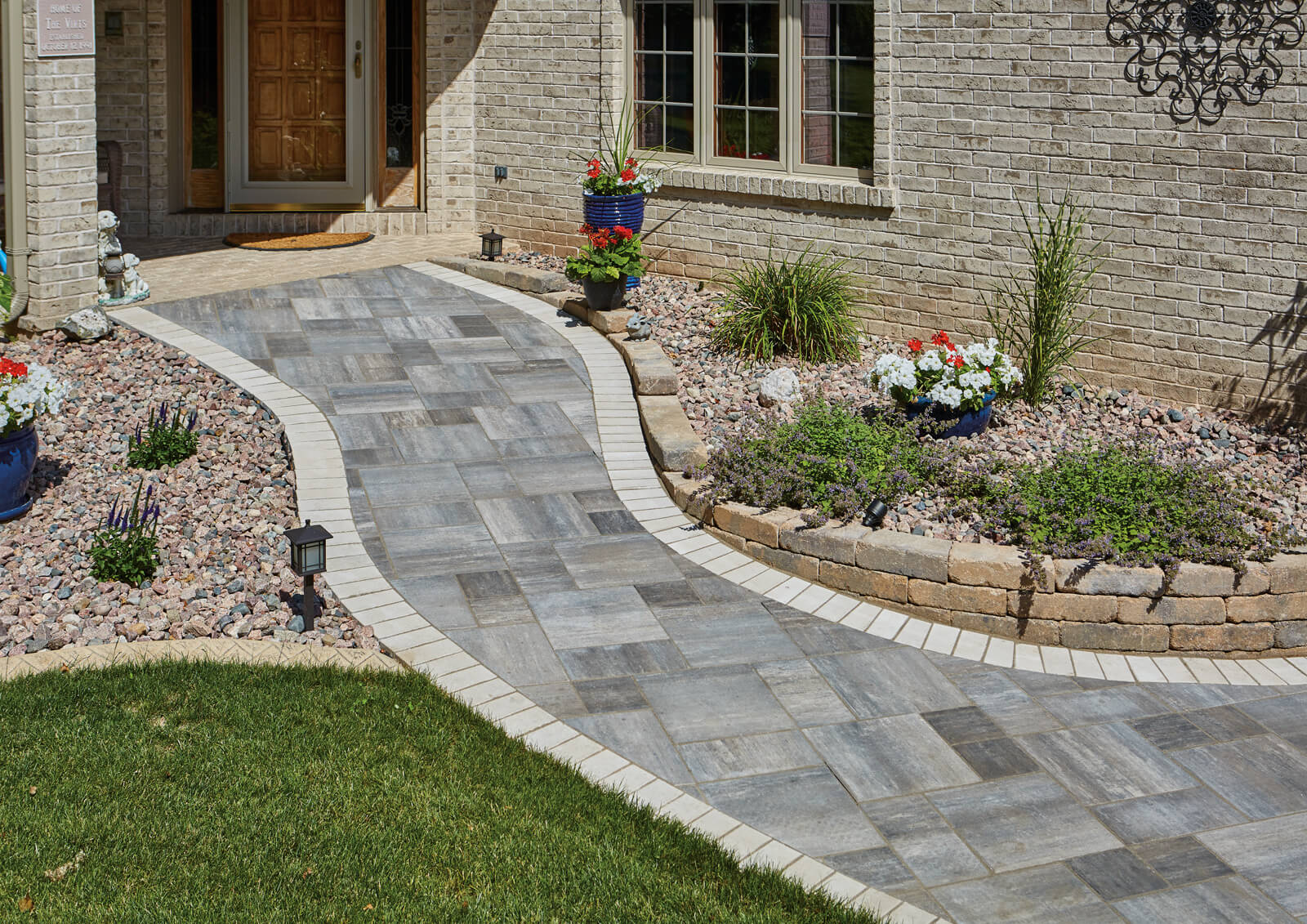 Grand Milestone Pavers Meet Accessibility Needs and Provide Subtle Beauty for Residential Front Yard