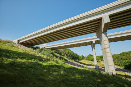 County Materials Prestress Girders Installed on the Tallest Bridges in Wisconsin