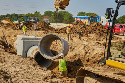 County Materials Manufactures 10 Miles of Reinforced Concrete Pipe for the Gateway of Wisconsin